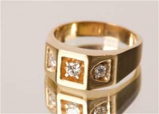 14K Gold & Diamond Dress Ring