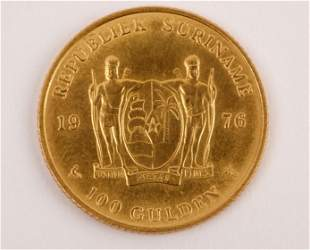 Republic of Suriname 1976 100 Gulden Coin (90% Gold)