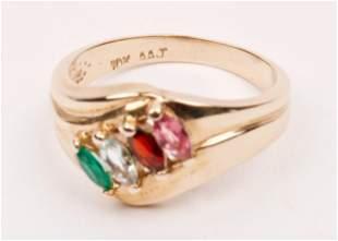 10K Gold & Gemstone Ring