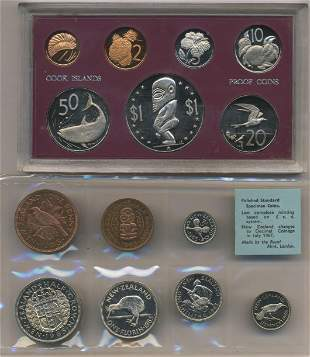 1972 Cook Islands & 1965 New Zealand Proof Sets