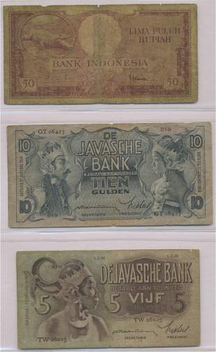 Six Indonesian and Dutch East Indies Notes