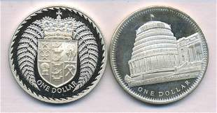 Two (2) New Zealand Silver Dollars