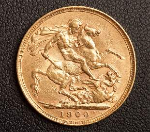 1900 St. George & Dragon 22K Gold Sovereign