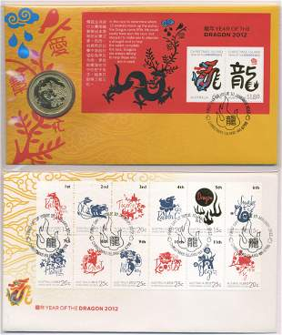 2012 Australian One Dollar Coin and Stamp Pack