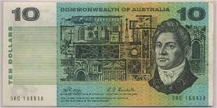 1968 Commonwealth Of Australia Ten Dollar Note