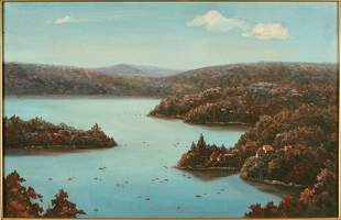 Painting of Sydney's Middle Harbour