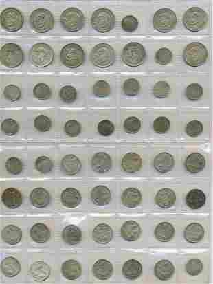 55 Australian Pre-Decimal Coins