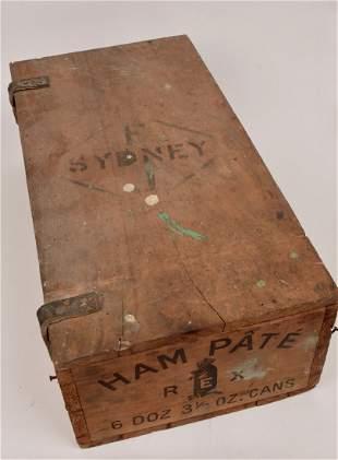Foggitt Jones Ham Pate Packing Box