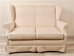 Two-Seater Wingback Lounge Chair