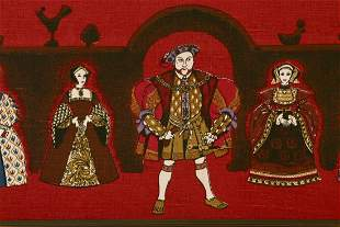 Tapestry of Henry VIII and His Wives