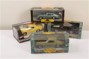 Four 1-18th Scale Model Motor Cars
