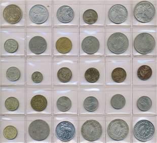 Twenty Five Early Indonesian Rupiah and Five Dutch Coin