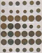 Forty Two Early Dutch Bronze Coins - Netherlands and In