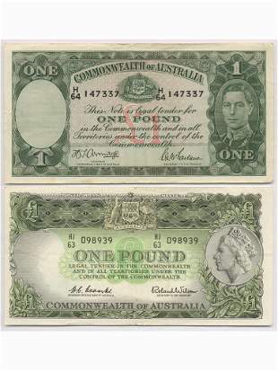 Two (2) Commonwealth of Australia Bank Notes