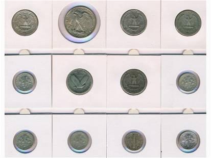 Twelve (12) United States Coins