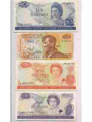 Four New Zealand Notes