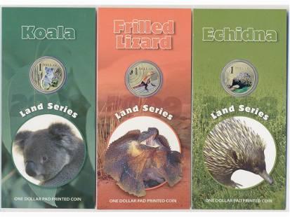 Three (3) Australian Colourful Collector Coins