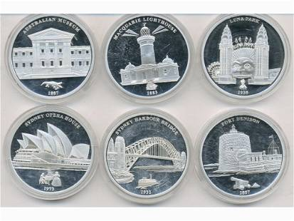 Six (6) 2013 Limited Edition Silver-Plated Coins
