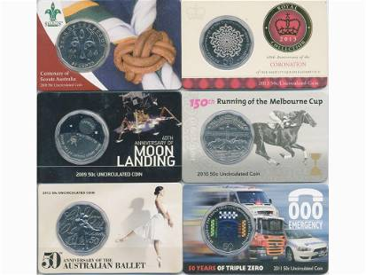 Six (6) Australian Collector Coin Packs