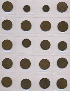Twenty (20) New Zealand Coins