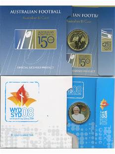 Two (2) Australian One Dollar Collector Coin Packs