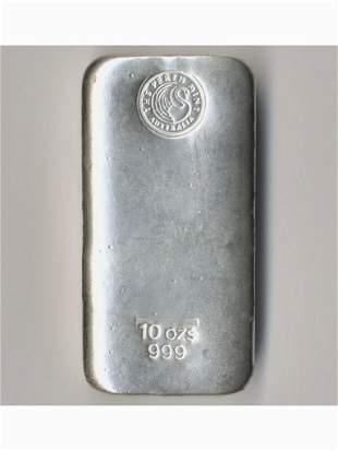Ten (10) Troy-Ounce Pure Silver Bullion Bar - The Perth