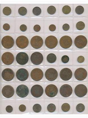 Forty Two Early Dutch Bronze Coins - Netherlands and