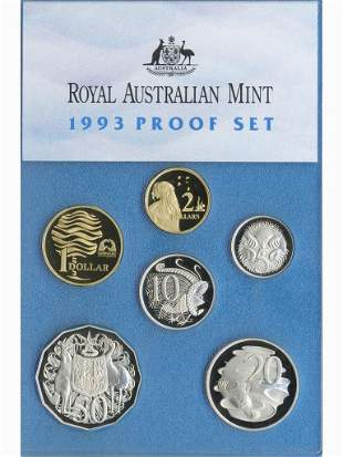 1993 Australian Six-Coin Proof Set