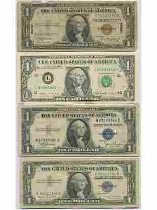 U.S.A STAR NOTE, Hawaiian Note and Two Other Notes