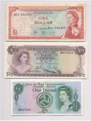 Three British Colonial Notes