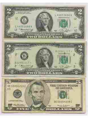 U.S.A. STAR NOTE and Two Other Notes
