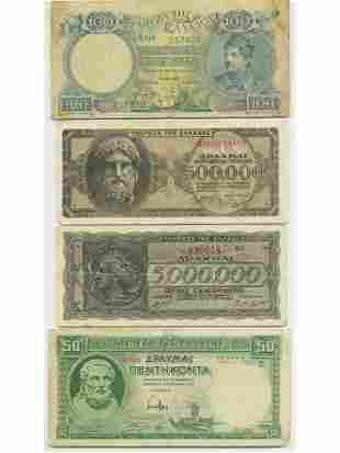 Nine (9) Greek Notes