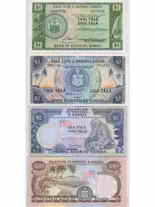 Four (4) Samoan Bank Notes