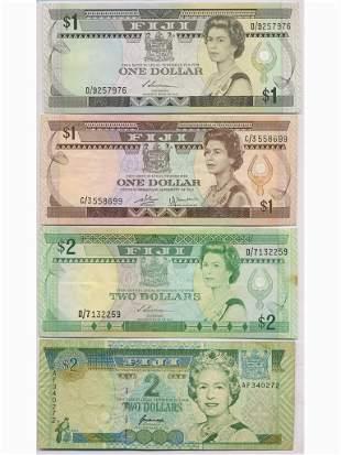 Eight (8) Fijian Bank Notes