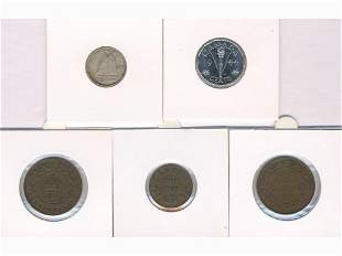 Five Early Canadian Coins