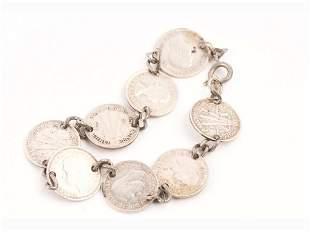 Australian Three Pence Coin Bracelet