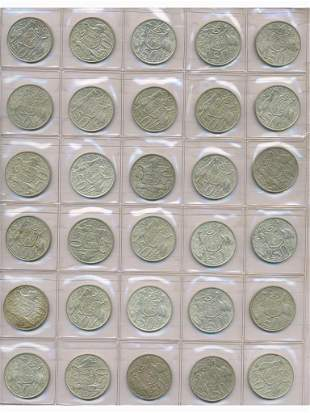 Thirty (30) 1966 Australian Round Fifty Cent Coins