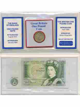 1984 English One Pound Coin & Note Collector Pack