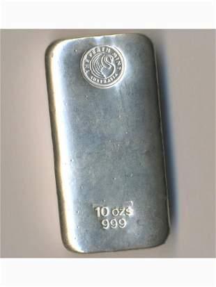 Ten-Ounce Pure Silver Bullion Bar - The Perth Mint