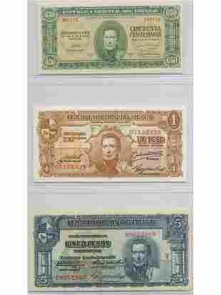 Three (3) Uruguayan Notes