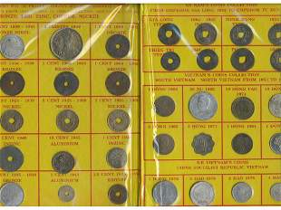 Fifty-Six (56) Early Vietnamese & Indochine Coins
