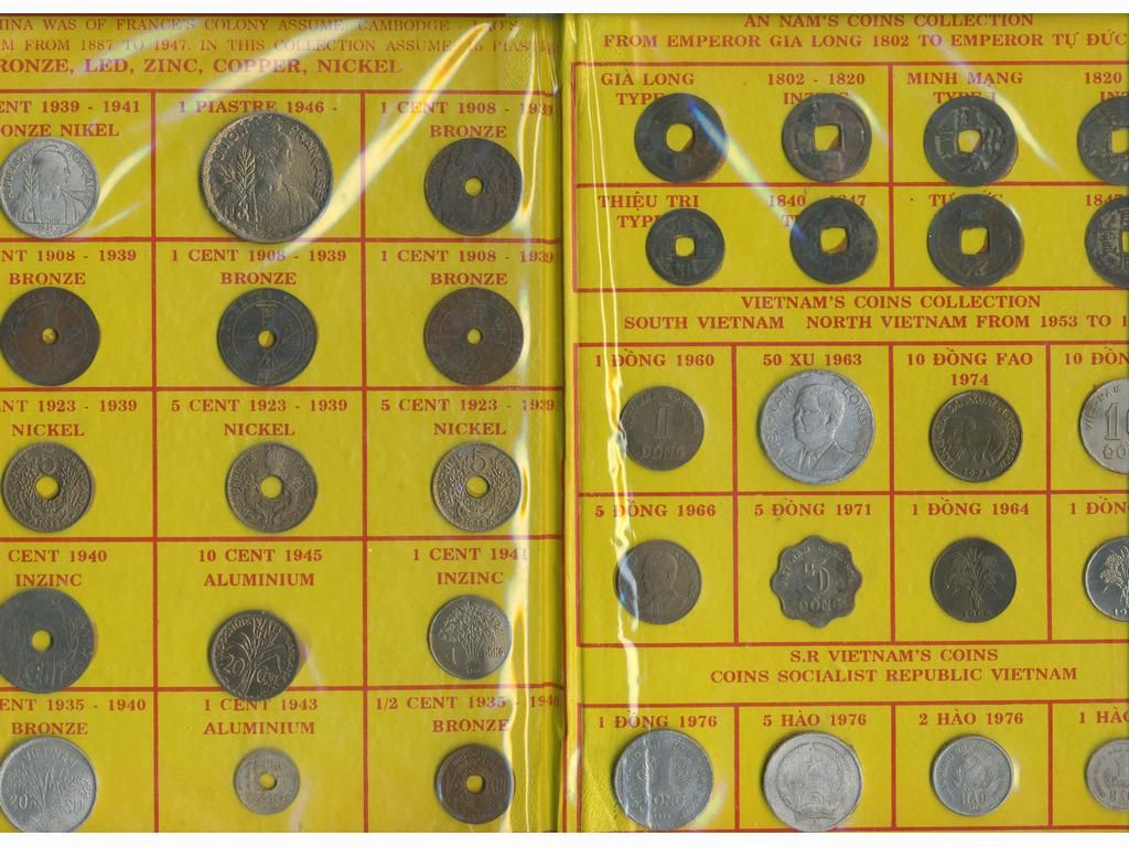 Fifty-Six (56) Early Vietnamese & Indochinese Coins