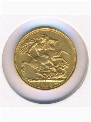 1913 Sydney Mint 22K Gold Full Sovereign