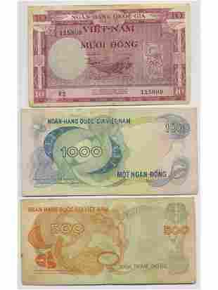 Seven (7) Vietnamese Notes