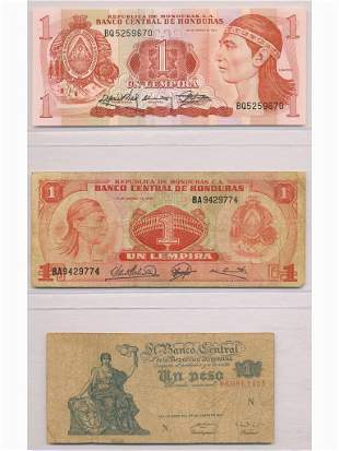 Three (3) Central and South American Notes