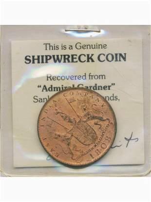 Shipwrecked 1808 East India Ten Cash Coin