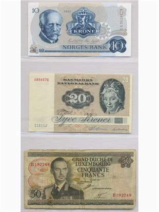 Three (3) Notes of Norway, Denmark and Luxembourg