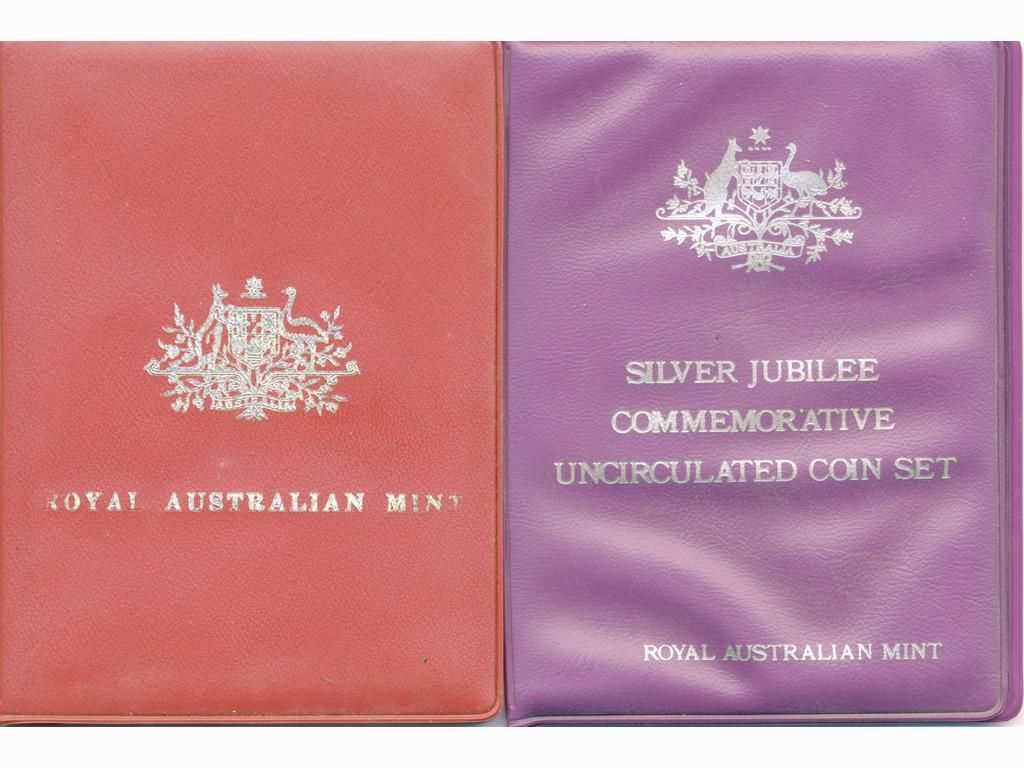 1971 and 1977 Australian Six-Coin Proof Sets