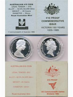 1982 and 1985 Australian Sterling Silver Collector