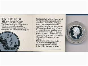 1988 Australian Silver Proof Two Dollar Coin .925